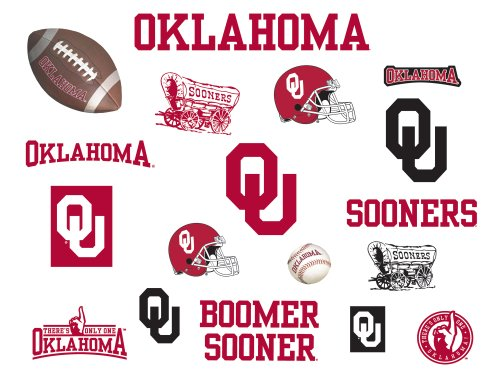Roommates Rmk1061Scs University Of Oklahoma Peel & Stick Wall Decals front-1045879