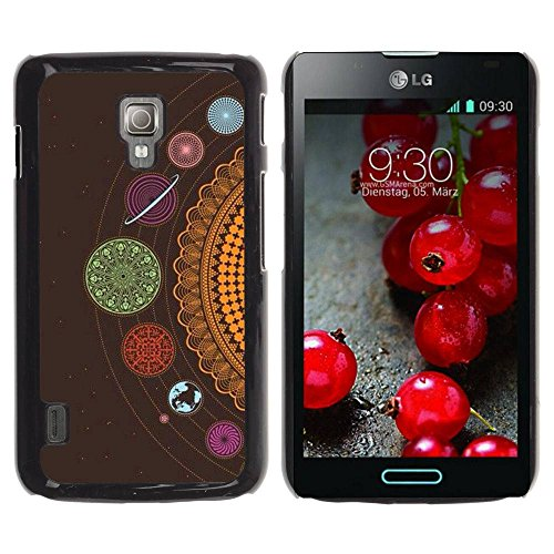 Paccase / Hard Protective Case Cover - Cosmos Solar System Crocheted - LG Optimus L7 II P710 / L7X P714