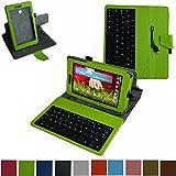 LG G Pad 7.0 micro usb Tastiera Custodia,Mama Mouth rotante Staccabile micro usb Tastiera (layout inglese) custodia in PU di cuoio pelle caso Case per LG G Pad 7.0 V400 V410 Tablet PC,Marrone