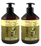 Difeel Organic Olive Essential Nutrients Body Lotion 16.89oz / 500ml Combo (2 Pack)