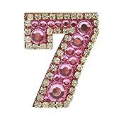 【全10種類】DIY 携帯ステッカー 数字シリーズ「7」  表札デザイン iPhone / iPad シール キラキラ グリッターラメ DIY Sticker(7328-8)