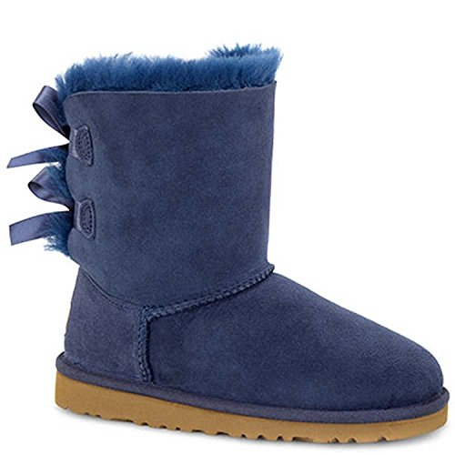 UGG Australia Girls Bailey Bow Boot Navy Size 6 M US Big Kid (Blue Bow Uggs compare prices)
