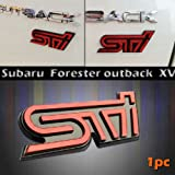 1PC STI Badge Rear Emblem Badge Exterior New For Subaru Forester Outback XV