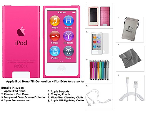 apple-ipod-nano-16gb-pink-extra-accessories-7th-generation-latest-model-released-july-2015