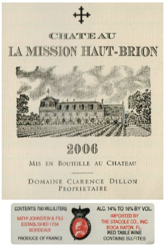 2006 Mission Haut-Brion Bordeaux 750 Ml