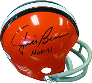 Jim Brown HOF 71 Autographed Cleveland Browns Mini Helmet (JSA) by Hollywood Collectibles