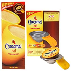 Chocomel Hot Start Set mit Padhalter für Senseo New Generation: HD7820, HD7822, HD7823, HD7824, HD7830, HD7841, HD7842
