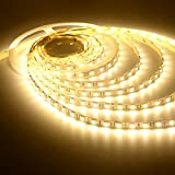 5 Meter Non-Waterproof YELLOW Flexible LED Strip + Adapter DC 12V, 2835/3528 SMD, Decorative Light