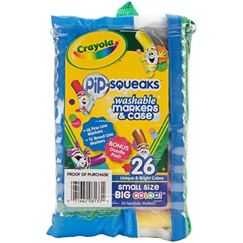 Crayola Crayola Pip-Squeaks Marker Portfolio, 26-Pack