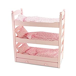 Amazon Com 18 Inch Doll Triple Bunk Bed Stackable