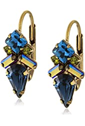 "Sorrelli ""Super Multi"" Petite Firefly Crystal French Wire Drop Earrings"