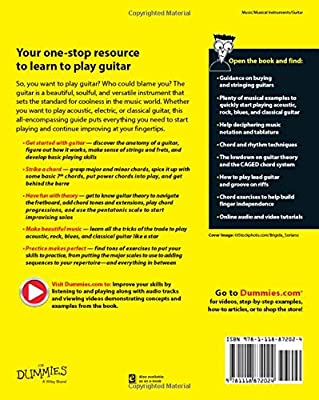 Guitar All-In-One For Dummies, Book + Online Video & Audio Instruction (For Dummies (Sports & Hobbies))