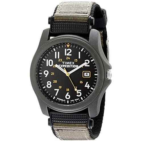 Timex Expedition Men's Quartz Watch with Black Dial Analogue Display and Black Nylon Strap - T42571