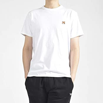 MAISON KITSUNE (メゾンキツネ) Tシャツ クルーネック メンズ ホワイト 刺繍/XS S M L XL 2XL/パリ ブランド カジュアル【並行輸入品】
