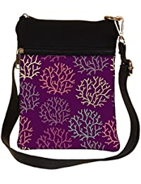 Snoogg Seamless Pattern With Leaf Seamless Texture Can Be Used For Wallpaper Cross Body Tote Bag / Shoulder Sling...