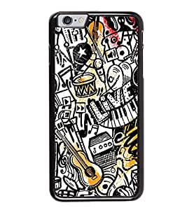 Fuson Premium 2D Back Case Cover Music pattern With yellow Background Degined For Apple iPhone 6S
