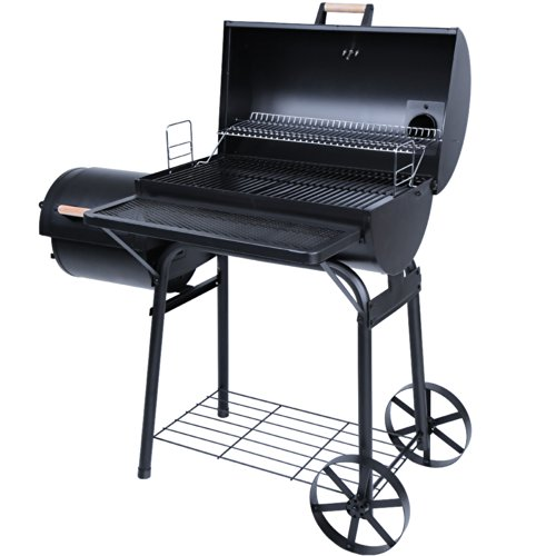 broil-master-Charcoal-BBQ-Grill-Wagon-Smoker-with-5-Grill-Grates-Terrace-Garden-Camping-Barbecue