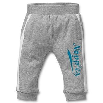 Noppies Baby - Jungen Hose 24409-Pants jersey Kaval, Gr. 68, Grau (grey melange)