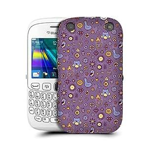 MobileGlaze Designs Lil Owl Flower Print Horizon Hen Hard Back Case Cover for BLACKBERRY CURVE 9320