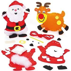 Kits d coration pour no l avec personnages coudre et - Decoration de noel a faire avec les enfants ...