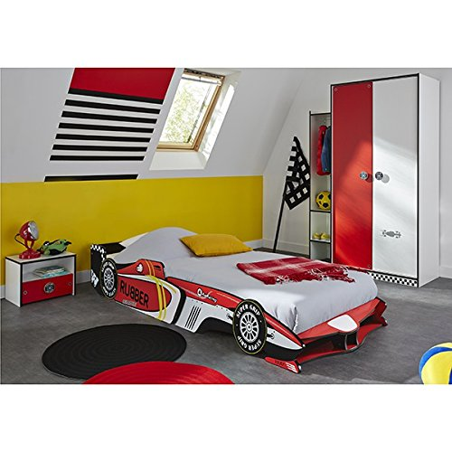 cravog kinderzimmer 3tlg autobett kleiderschrank nachtkommode jugendzimmer cool design. Black Bedroom Furniture Sets. Home Design Ideas