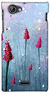 Print Haat Plastic Back Case for Sony Xperia J (Abstract-015)