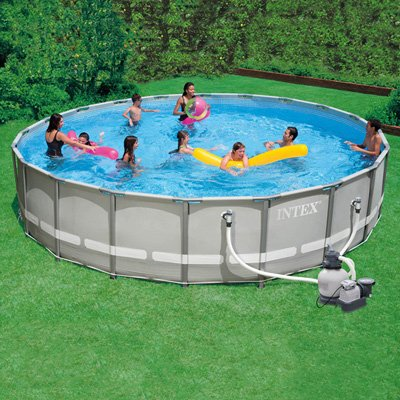 Intex ultra frame swimming pool 20 ft x 52 in 1600gph for Pool garden outlet