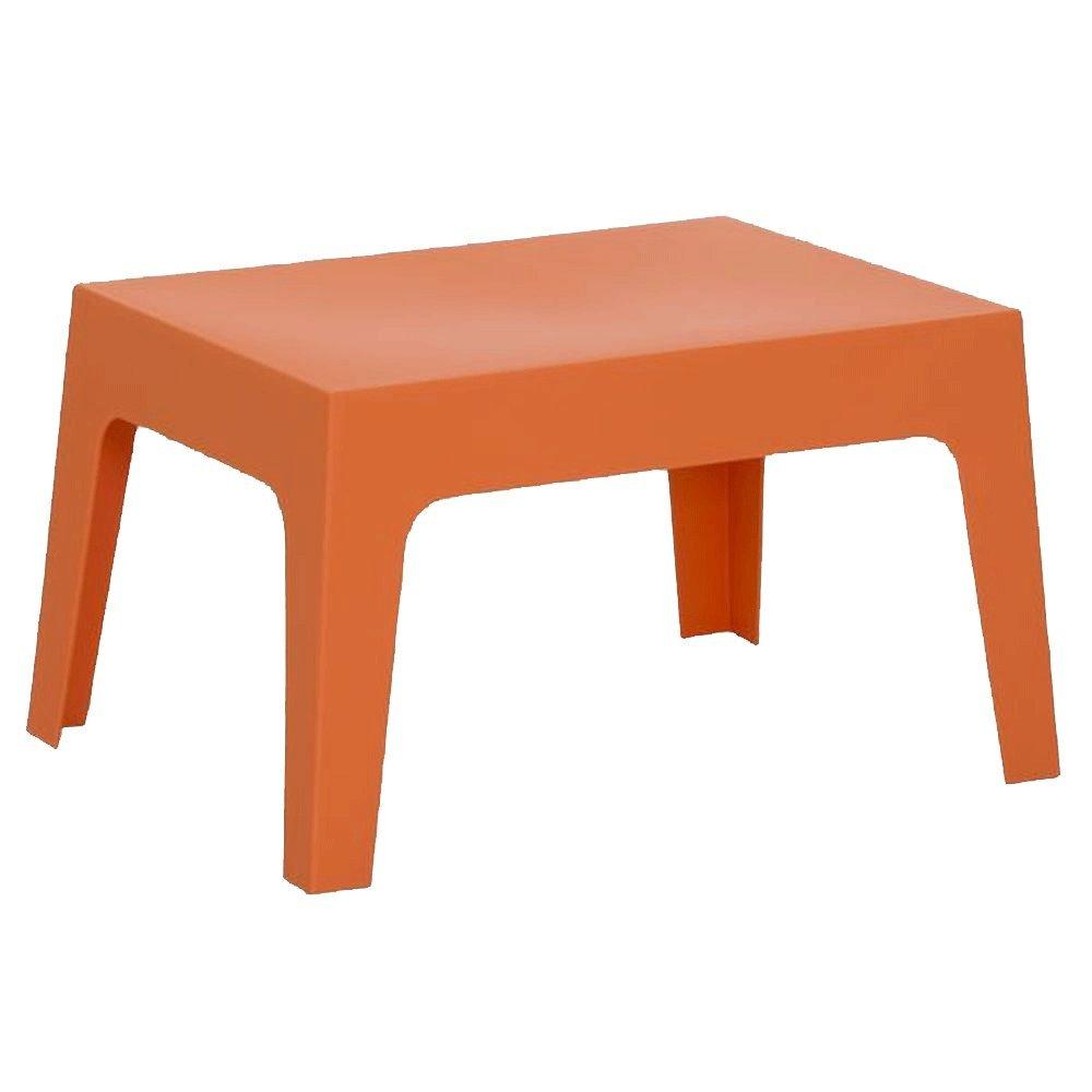 Loungetisch stapelbar aus Kunststoff Orange – Modell La Dolce Vita online kaufen