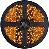 HitLights Warm White SMD3528 LED Light Strip - 300 LEDs, 16.4 Ft Roll, Cut to length - 3000K, 82 Lumens / 1.5 Watts per foot, Requires 12V DC