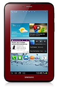 Samsung Galaxy Tab 2 GT-P3110GRADBT WiFi only Tablet (1GHz Dual Core Prozessor, 17,8 cm (7 Zoll) Touchscreen, 3,2 Megapixel Kamera, 8GB Speicher, WiFi, Android 4.0) garnet-red