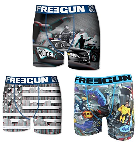 Freegun -  Boxer  - Uomo multicolore Small
