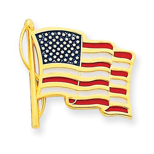 14k Enameled American Flag Tie Tac