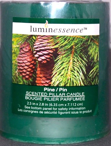Luminessence Pine Scented Pillar Candle