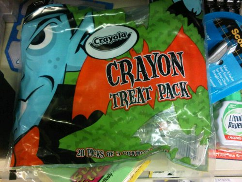 Crayon Halloween Treat Pack, 20 Packs of 3 Crayons Each