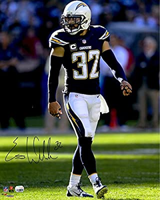 Eric Weddle San Diego Chargers Autographed 16'' x 20'' Blue Jersey Vertical Photograph - Fanatics Authentic Certified