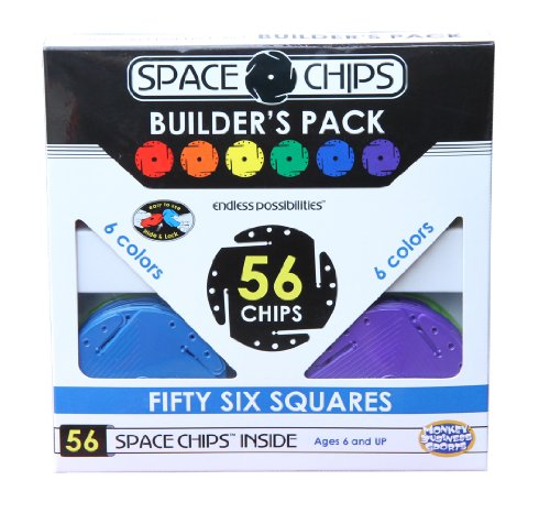 Monkey Business Sports Space Chips Builder Pack - Square (56 Pieces) (Knex 521 Building Set compare prices)