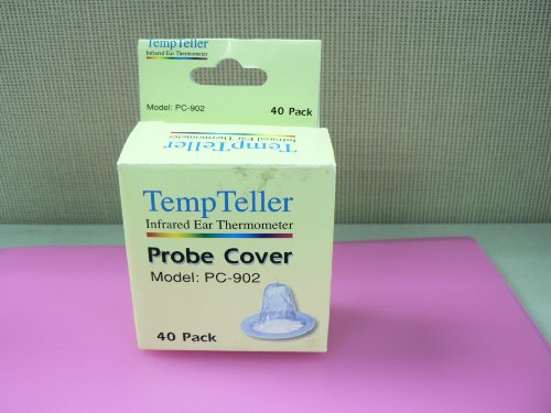 Tempteller Infrared Ear Thermometer Probe Covers (Box of 40)