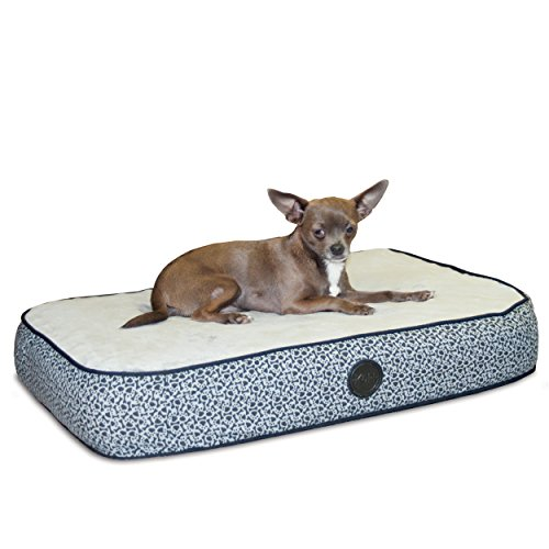 K&H Orthopedic Superior Pet Bed, Small 20-Inch by 30-Inch, Gray Paw Bone Print
