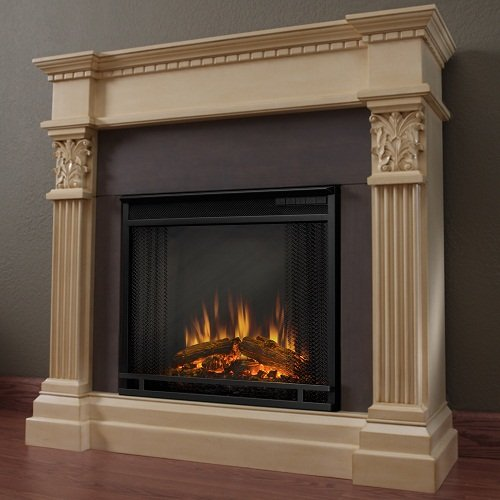 Real Flame Gabrielle Indoor Electric Fireplace in Antique White photo B003Y8B1B2.jpg