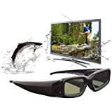 Esky® 3D Rechargeable Active Shutter Glasses with Infrared Frequency Technology For Samsung, LG, Sony and Panasonic 3D HDTV Movie, Game