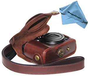 """MegaGear """"Ever Ready"""" Protective Dark Brown Leather Camera Case, Bag for Canon PowerShot G16"""