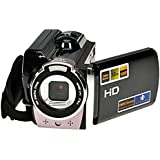 Gizga® UK Hot Sell high-quality material and highly advanced technology 1080P Digital Video Camcorder Full HD 16x digital Zoom DV Camera Kit Black supports HDMI video output