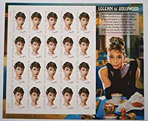 2003 AUDREY HEPBURN LEGENDS OF HOLLYWOOD #3786 Pane of 20 x 37 cents US Postage Stamps by USPS
