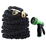 GDEALER Garden Hose Expandable Water Hose 50 Ft with 9 Pattern Garden Hose Nozzle Spray Nozzle Water Hose Nozzle Water Hose Gun for Watering Plants, Car Wash and Showering Pets