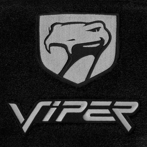 dodge-viper-floor-mats-gts-coupe-black-with-silver-snake-logos-1999-2000-2001-2002
