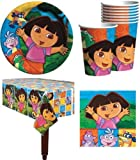 Dora The Explorer Birthday Party Supplies Pack for 16 Guests