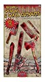 Forum Novelties 6 Piece Bloody Weapon Cutouts, Red