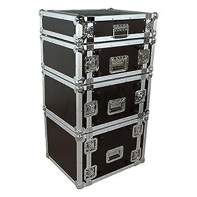 Musician's Gear Rack Flight Case 4 Space Black