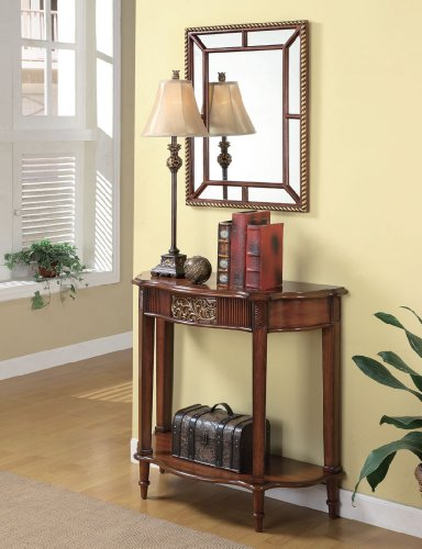 Cheap Brown Traditional Console Table & Mirror & Lamp (B003XR7YUQ)