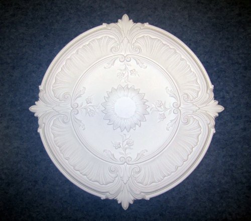 Gaudi Décor 30 Inch Ceiling Medallion Primed White Polyurethane Acanthus Leaf #R120